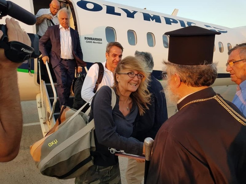 Τον πρωθυπουργό συνοδεύει και η σύζυγός του Μαρέβα Μητσοτάκη / Φωτογραφία: RODIAKI.GR/ΑΚΜ