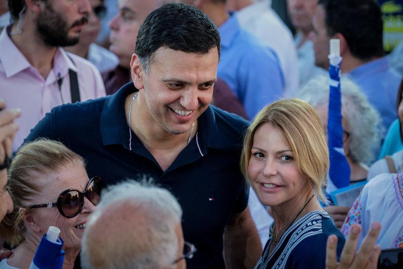 Ο Βασίλης Κικίλιας και η Τζένη Μπαλατσινού