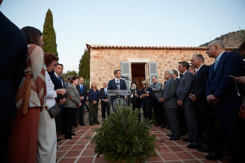 Ο Κυριάκος Μητσοτάκης εγκαινίασε την οικία του Πάτρικ Λι Φέρμορ