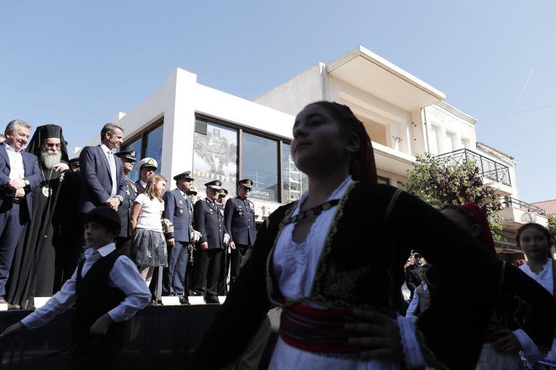 Αποτέλεσμα εικόνας για Μητσοτάκης, Παρέλαση, Χανιά, Μήνυμα, Κίσσαμος