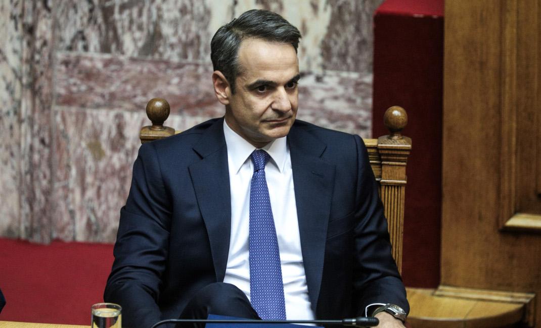 Στο πρωθυπουργικό έδρανο ο Κυριάκος Μητσοτάκης