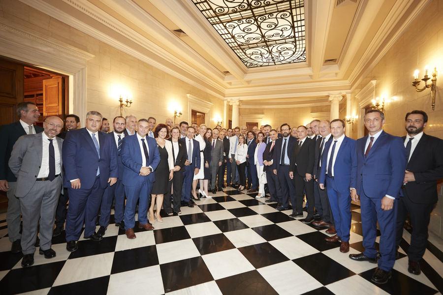 Συνάντηση Μητσοτάκη με 80 περίπου πρωτοεκλεγέντες βουλευτές της ΝΔ -