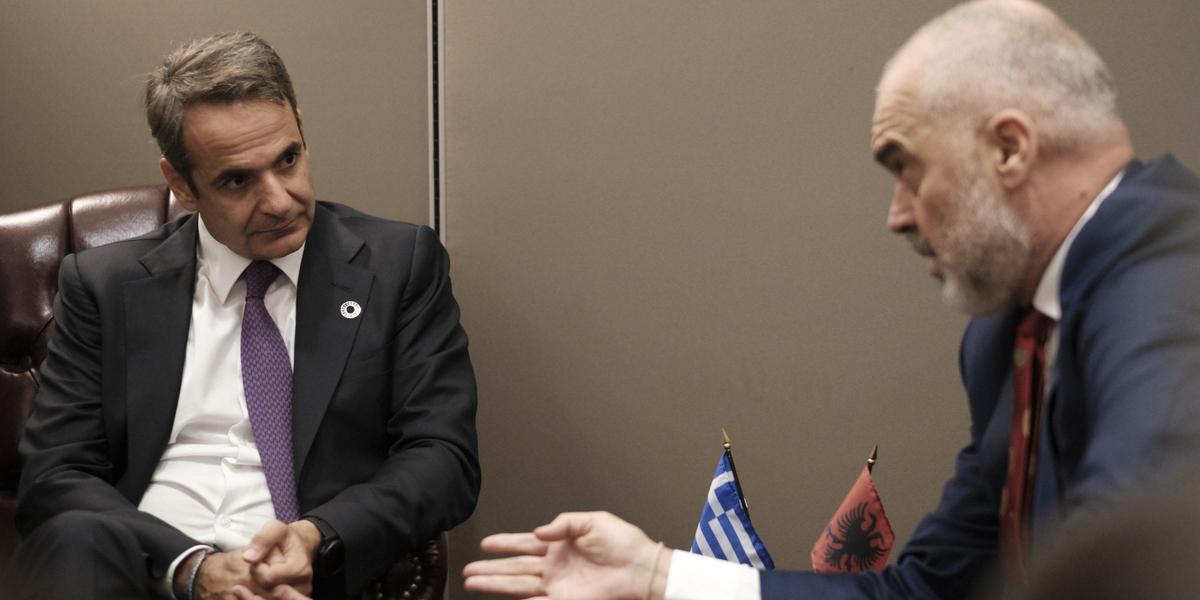 Συνάντηση Μητσοτάκη- Ράμα στη Νέα Υόρκη -Φωτογραφία: Dimitris Papamitsos / PM Handout / SOOC