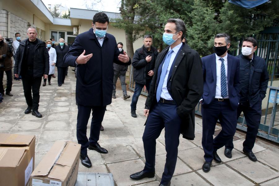 Ο πρωθυπουργός βρέθηκε το μεσημέρι της Δευτέρας στο νοσοκομείο Σωτηρία