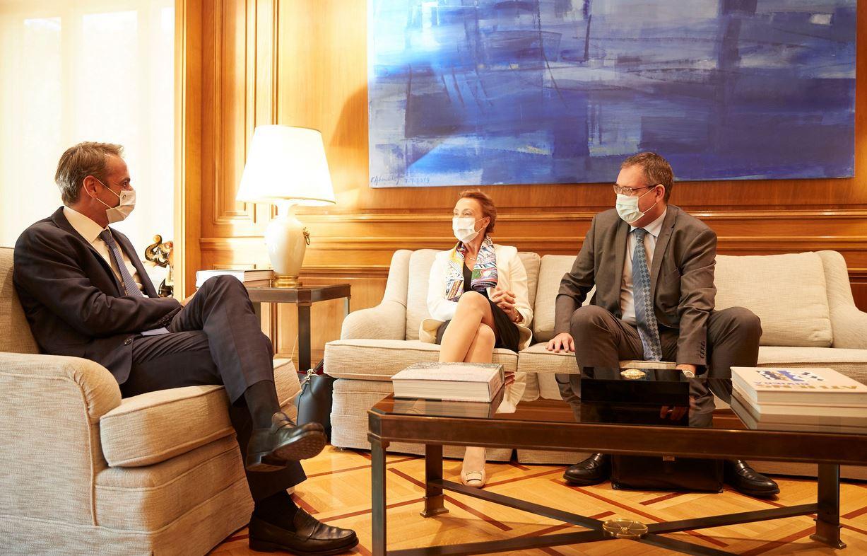 Συνάντηση Μητσοτάκη με την Γενική Γραμματέα του Συμβουλίου της Ευρώπης