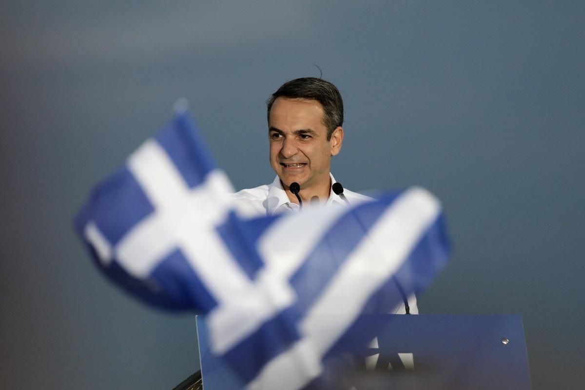 Ο Κυριάκος Μητσοτάκης στην ομιλία του στη Θεσσαλονίκη