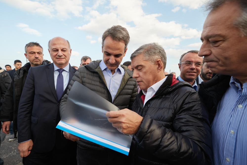 Τις εργασίες του αυτοκινητοδρόμου Κεντρικής Ελλάδας Ε65 επιθεώρησε ο Κυριάκος Μητσοτάκης
