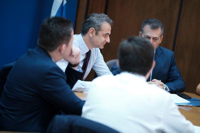 Από τη σύσκεψη στο υπουργείο Εργασίας