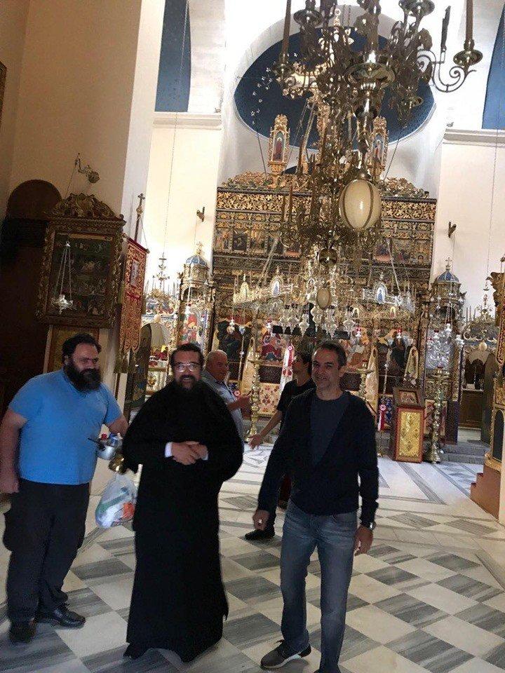 Στην Μονή Αγίας Τριάδος ο Κυριάκος Μητσοτάκης