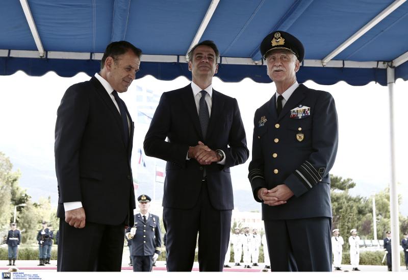 Ο Κυριάκος Μητσοτάκης επισκέφθηκε το υπουργείο Αμυνας