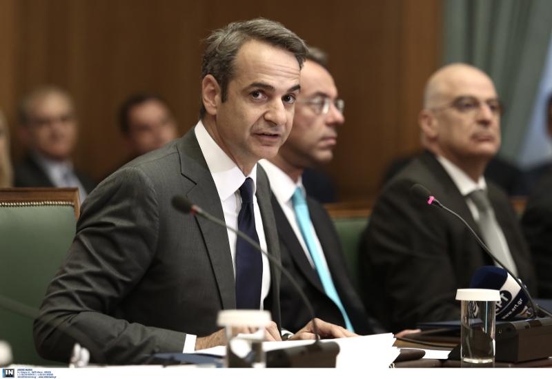Ο Κυριάκος Μητσοτάκης στο πρώτο υπουργικό συμβούλιο