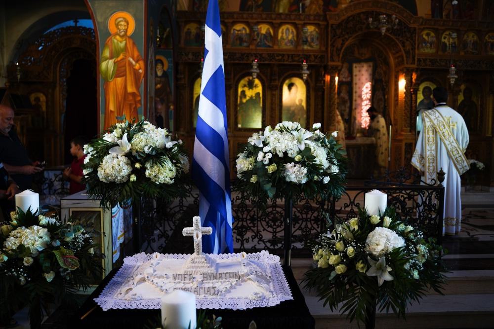 Επιμνημόσυνη δέηση για τα 102 θύματα της πυρκαγιάς στο Μάτι πραγματοποιήθηκε σήμερα το πρωί στον Ιερό Ναό Κοιμήσεως της θεοτόκου