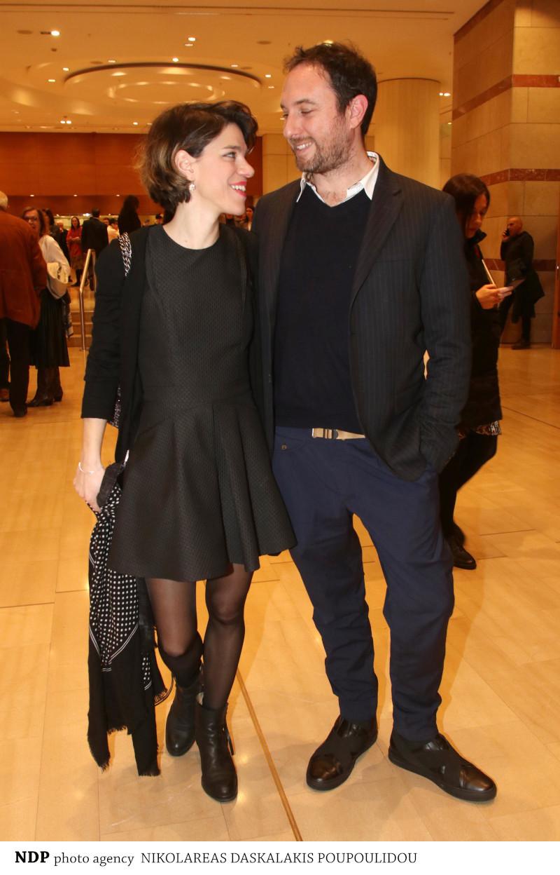 Η Μόνικα Χριστοδούλου με το σύζυγό της, Σταύρο Ξενίδη στο Μέγαρο Μουσικής