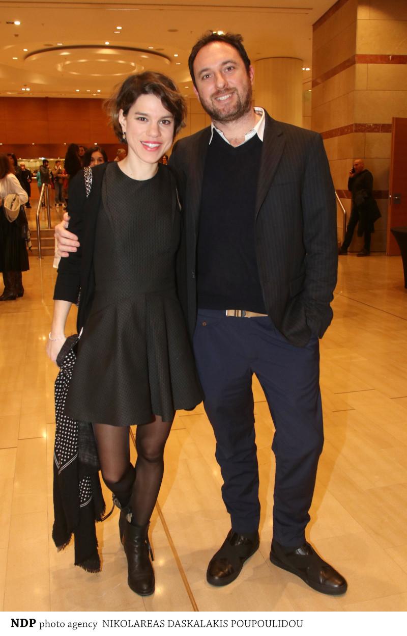 Η Μόνικα Χριστοδούλου με το σύζυγό της, Σταύρο Ξενίδη