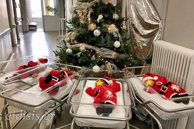 Εικόνες που σε κάνουν να λιώνεις: Στο Κιλκίς έντυσαν νεογέννητα βρέφη... αγιοβασιλάκια [εικόνα]
