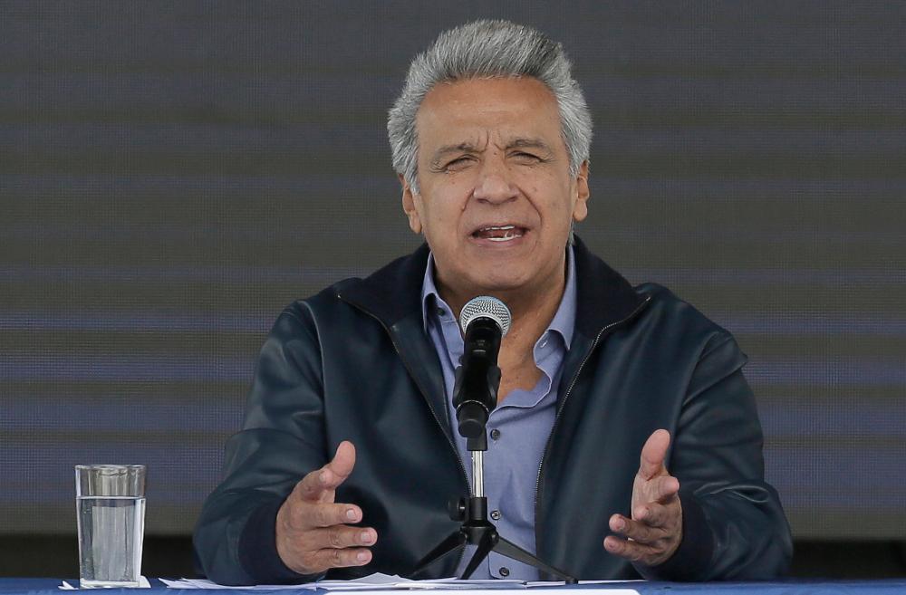 Λένιν Μορένο, πρόεδρος Ισημερινού συνέντευξη στην τηλεόραση