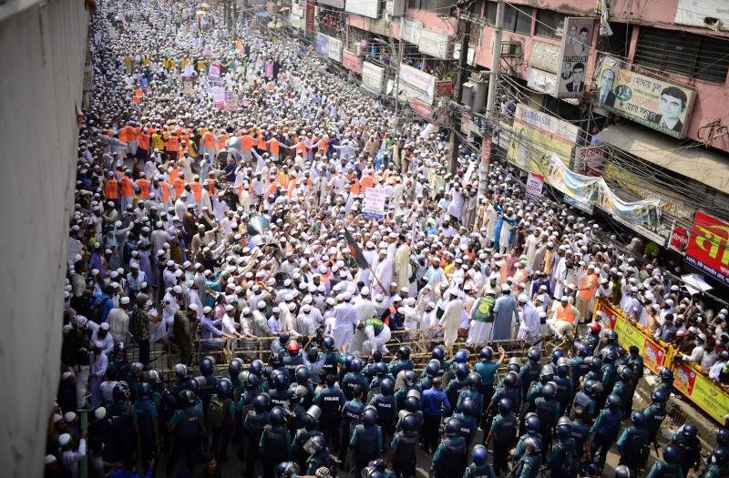 Μπαγκλαντές διαδήλωση κατά της Γαλλίας