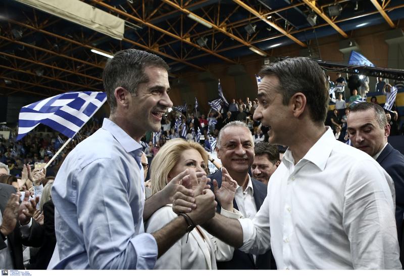 Ο υποψήφιος Δήμαρχος Αθηναίων Κώστας Μπακογιάννης με τον Κυριάκο Μητσοτάκη