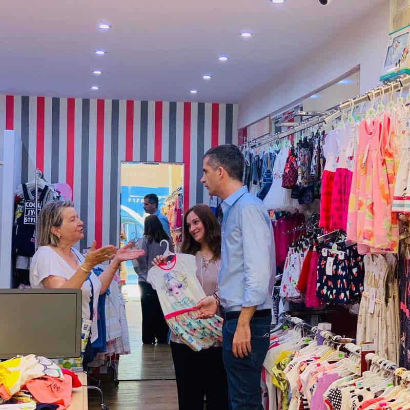 Ο Κ. Μπακογιάννης επισκέφθηκε καταστήματα της περιοχής