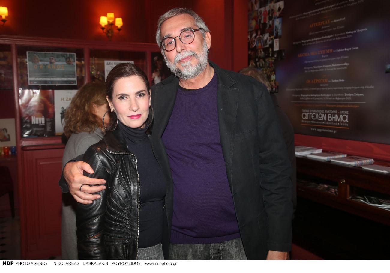 Με τον σκηνοθέτη της παράστασης Σταύρο Στάγκο