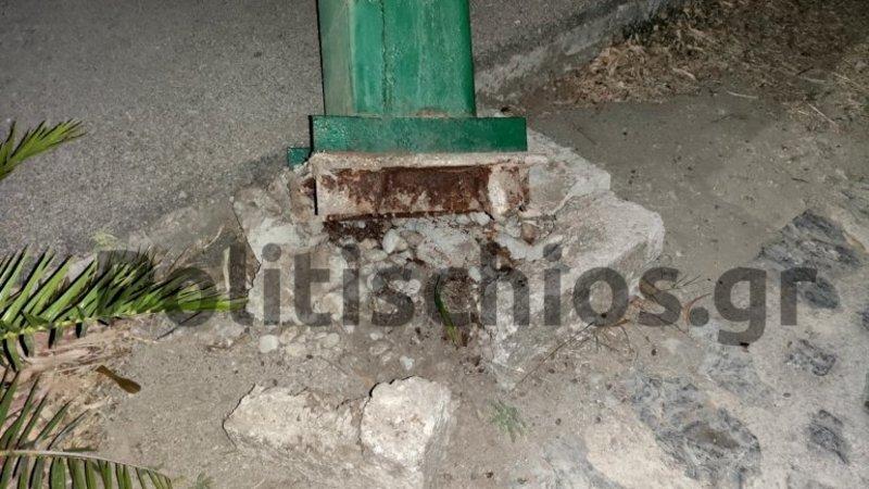 Η βάση της μπασκέτας στη Χίο