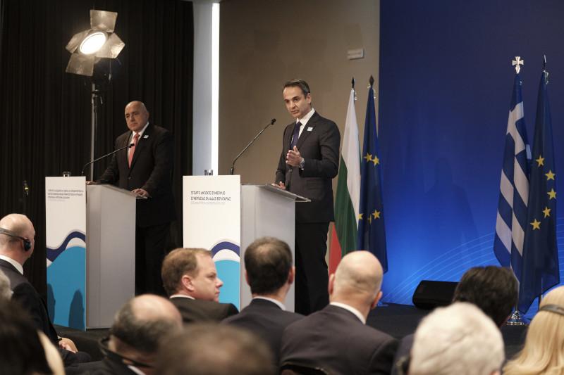 Ο πρωθυπουργός, Κυριάκος Μητσοτάκης με τον Βούλγαρο ομόλογό του
