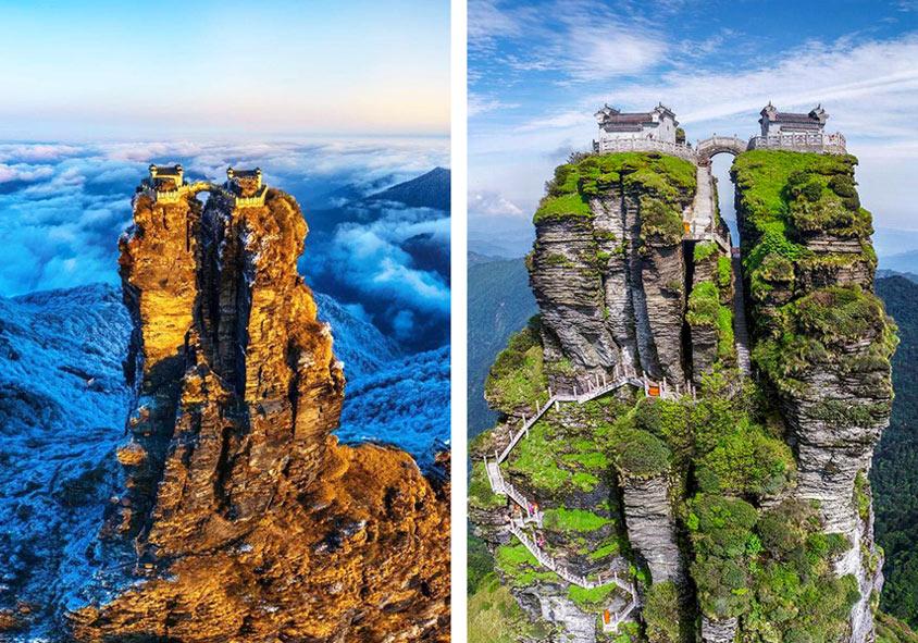 «Δίδυμοι» ναοί στις κορυφές βράχου στα 2.330 μ.