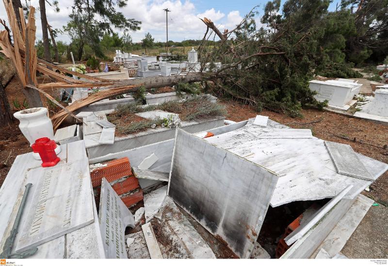 Τεράστιες οι καταστροφές στο νεκροταφείο της Σωζόπολης