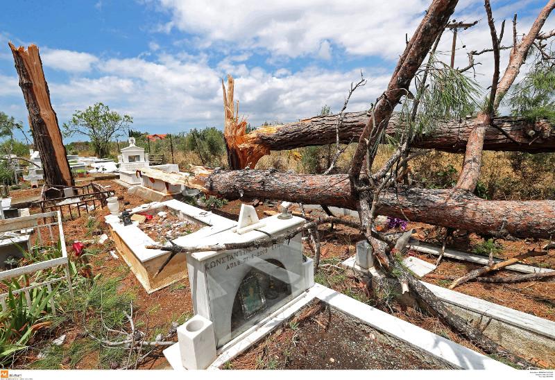 Μεγάλες οι καταστροφές στο νεκροταφείο της Σωζόπολης