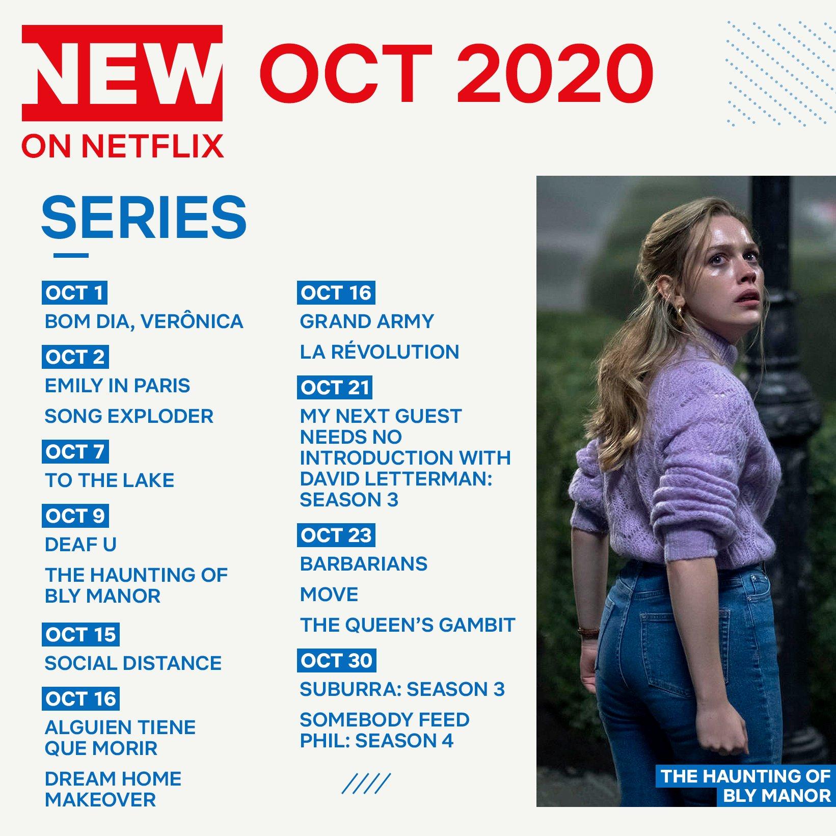 Οι νέες σειρές του Netflix για τον μήνα Οκτώβρη