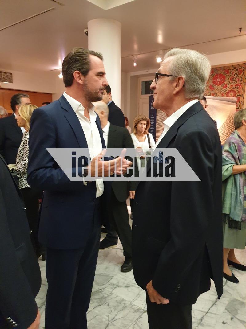 Ο Νικόλαος Γλίξμπουργκ με τον Αλέξανδρο Σαμαρά
