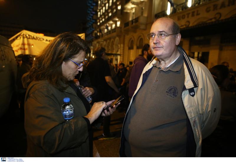 Ο Νίκος Φίλης στην πορεία για το Πολυτεχνείο Φωτογραφία: INTIME NEWS