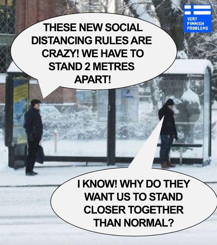 Οι Σκανδιναβοί σατιρίζουν τους εαυτούς τους για τους κανόνες κοινωνικής απομόνωσης