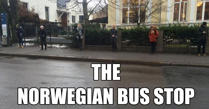 Πώς περιμένουν οι Νορβηγοί το λεωφορείο