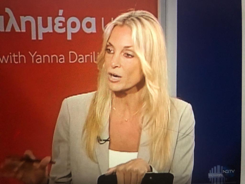 Η Γιάννα Νταρίλη στο στούντιο του New Greek Tv