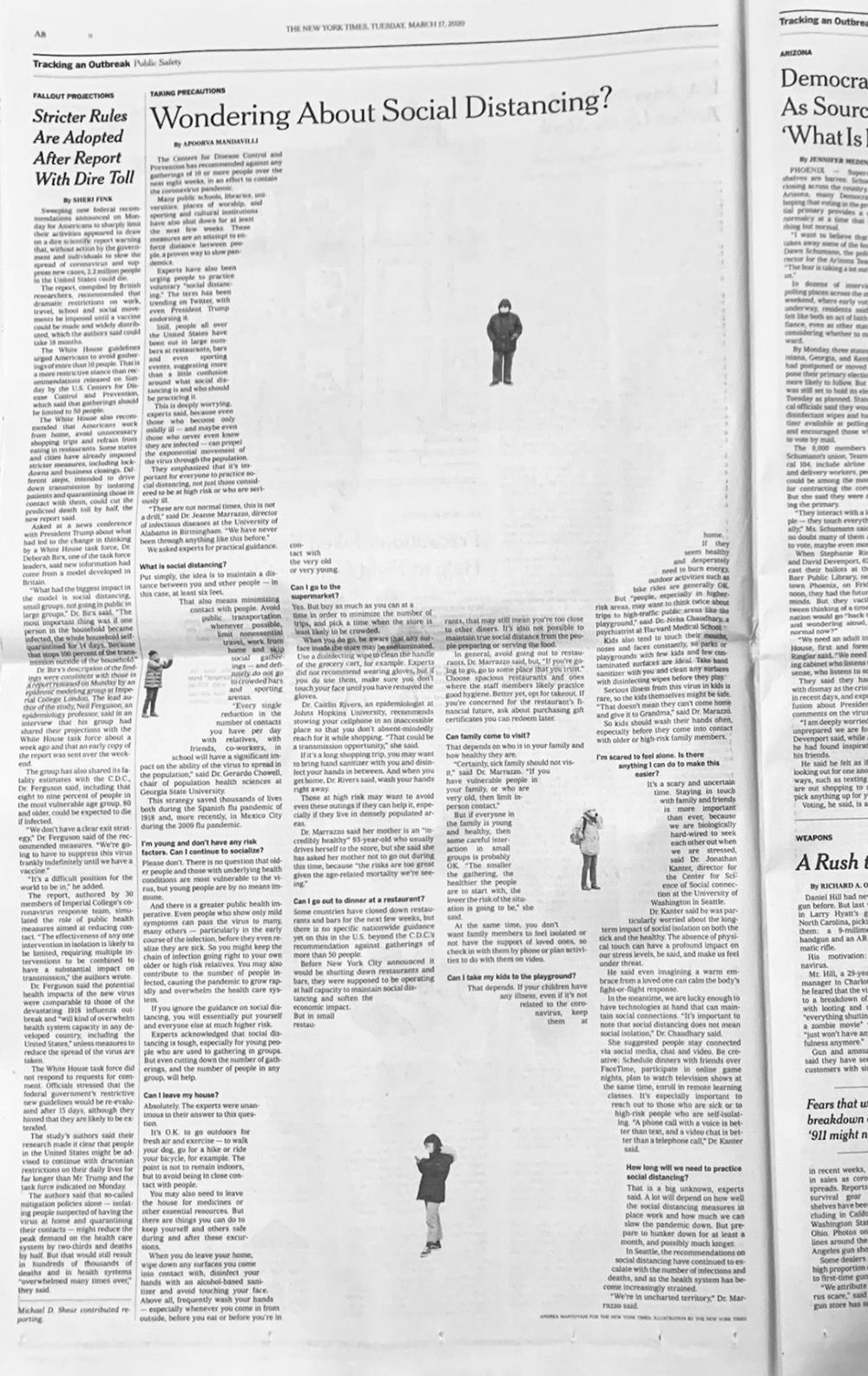 Το άρθρο των New York Times όπως αποτυπώηκε στο χαρτί
