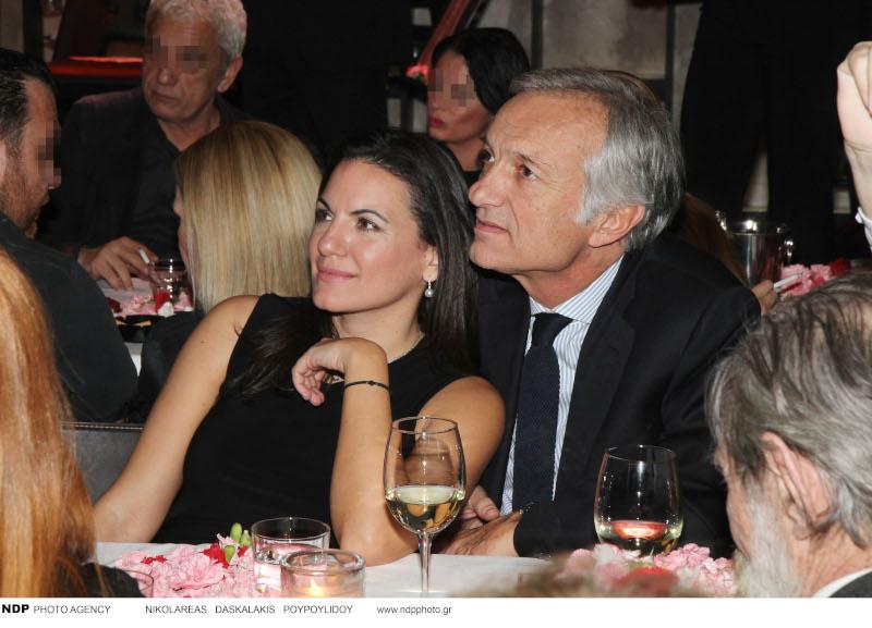 Η Όλγα Κεφαλογιάννη με τον πρώην σύζυγό της σε παλαιότερη νυχτερινή τους έξοδο