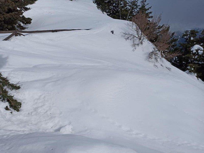 Καλυμμένο από χιόνια το σημείο στον Ομαλό