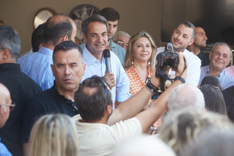 Ομιλία του Κυριάκου Μητσοτάκη στο Βόλο / Φωτογραφία: EUROKINISSI