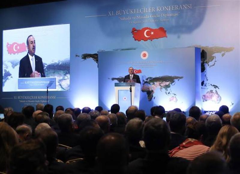 Ομιλία του Μεβούτ Τσαβούσογλου στους Τούρκους πρέσβεις