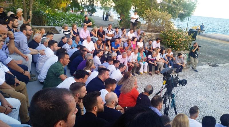 Οι πολίτες του Βόλου στην προεκλογική ομιλία του Κυριάκου Μητσοτάκη / Φωτογραφία: magnesianews.gr