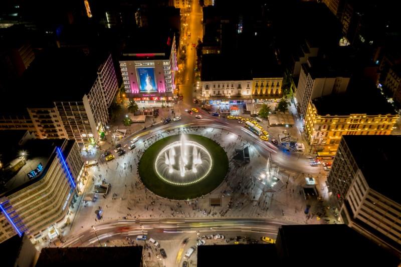Αεροφωτογραφία από την νέα όψη της πλατείας Ομονοίας