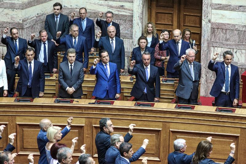 Οι υπουργοί της κυβέρνησης Μητσοτάκη