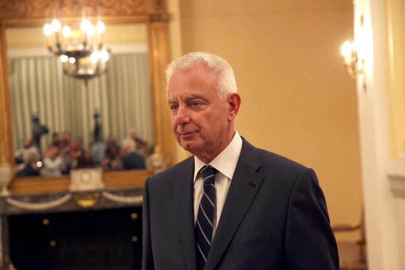 2012: Ο Παναγιώτης Πικραμμένος κατά την ορκωμοσία του ως πρωθυπουργός