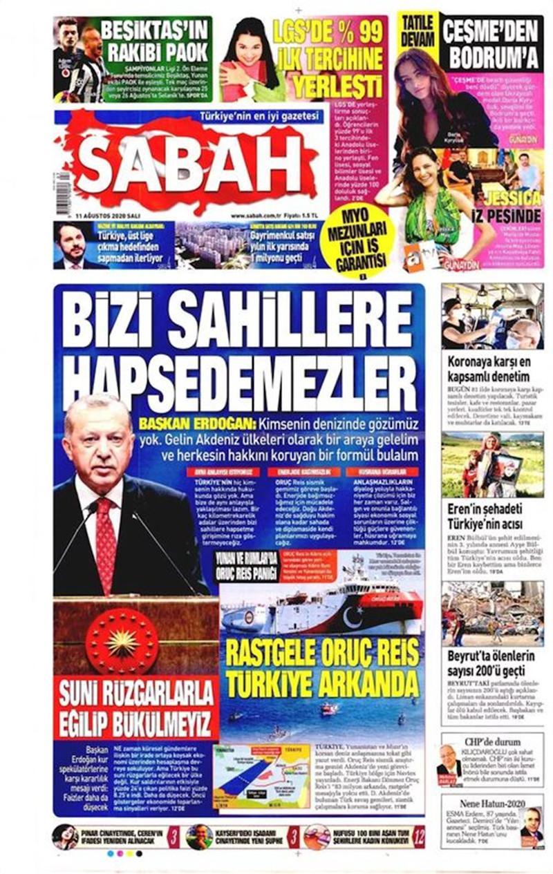 Oruc Reis τουρκικός Τύπος