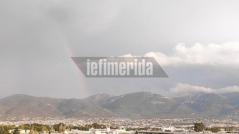 Ουράνιο τόξο πάνω από την Αθήνα