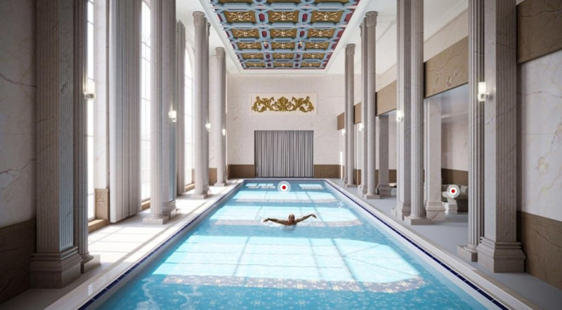 Κάπως έτσι θα είναι η εσωτερική πισίνα του παλατιού