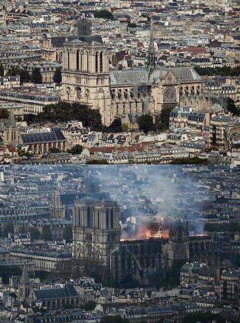 Το πριν και το μετά της Παναγίας των Παρισίων εξωτερικά