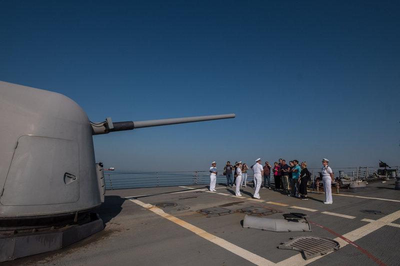 Πάνω στο αντιτορπιλικό USS MCFAUL