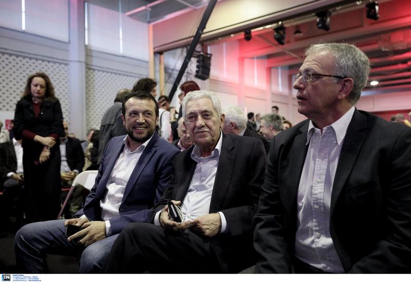 Ο Νίκος Παππάς, ο Φώτης Κουβέλης και ο Παν. Ρήγας